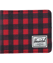 Herschel Supply Roy Buff Plaid Bifold Wallet