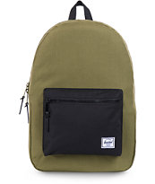 Herschel Supply Settlement Army Green & Black Backpack