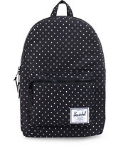 Herschel Supply Settlement Black & White Polka Dot Backpack