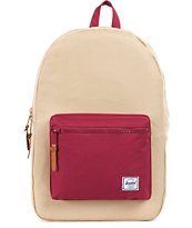Herschel Supply Settlement Khaki & Burgundy Backpack