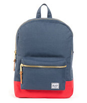 Herschel Supply Settlement Navy & Red Backpack
