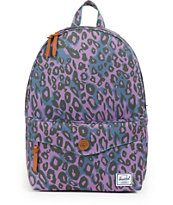 Herschel Supply Sydney Purple Leopard Print 14L Mid-Volume Backpack
