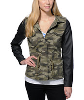 Highway Jeans Camo Print Denim Jacket
