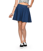 Highway Jeans Dark Wash Denim Skater Skirt