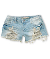 Highway Jeans Lake Destructed Denim Shorts