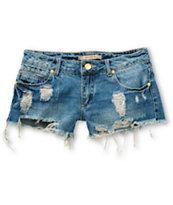 Highway Jeans River Destructed Denim Shorts