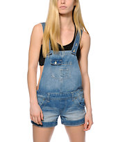 Highway Jeans Rolled Cuff Overall Shorts