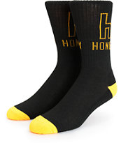 Honey Brand Co H Logo Crew Socks