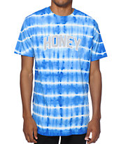 Honey Brand Co. Blue Stripe Tie Dye T-Shirt