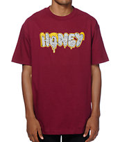 Honey Brand Co. Deladeso Too Burgundy T-Shirt