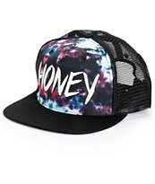 Honey Brand Co. Green Tie Dye Trucker Hat