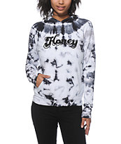 Honey Brand Co. Sunburst Black Tie Dye Hoodie