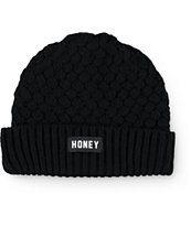 Honey Brand Co. Trap Black Beanie