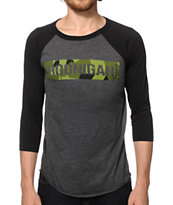 Hoonigan Raptor Camo Baseball T-Shirt