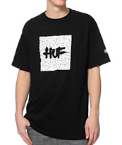 Huf Haze Box Logo Black Tee Shirt