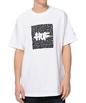 Huf Haze Box Logo White Tee Shirt