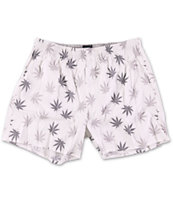 Huf Plantlife White & Grey Boxer Shorts