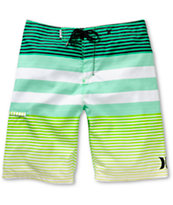 Hurley Echo Neon Green Stripe 22 Board Shorts