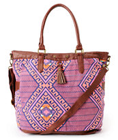 Hurley Girls One & Only Tribal Print Book Tote Bag
