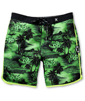 "Hurley Phantom Aloha Neon Green 19"" Board Shorts"