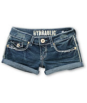 Hydraulic Jen Medium Blue Denim Shorts