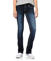 Hydraulic Lola Dark Wash Micro Bootcut Jeans