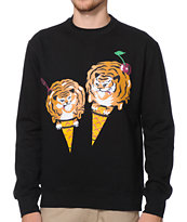 ICECREAM Cones & Bones Black Crew Neck Sweatshirt