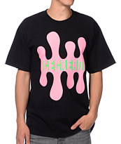 ICECREAM Double Drip Black Tee Shirt