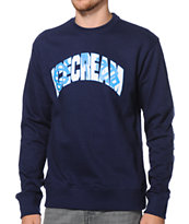 ICECREAM Hidden Cones Navy Crew Neck Sweatshirt