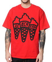 ICECREAM Multi Cone Red Tee Shirt