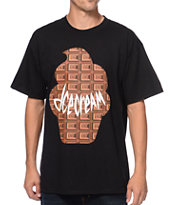 ICECREAM Wafflecone Black & Chocolate Tee Shirt