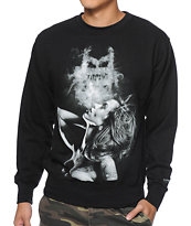 IMKing Exhale Black Crew Neck Sweatshirt