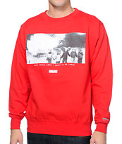 IMKing Wildfire Red Crew Neck Sweatshirt