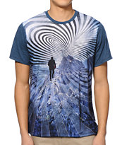 Imaginary Foundation Attractor Panel Blue Sublimated Tee Shirt