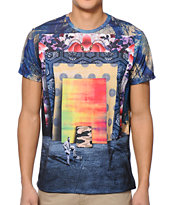 Imaginary Foundation Frames Navy Sublimated Tee Shirt