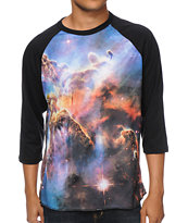 Imaginary Foundation Nebula Sublimated Baseball Tee Shirt