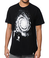 Imaginary Foundation Smoke Rings Black Tee Shirt