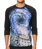 Imaginary Foundation Spiral Sublimated Baseball Tee Shirt