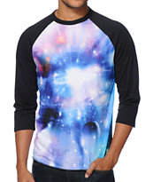 Imaginary Foundation Supernova Sublimated Baseball Tee Shirt