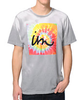 Imperial Motion 1X1 Tie Dye Grey & White Color Change Tee Shirt