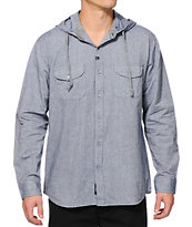 Imperial Motion Clyde Hooded Long Sleeve Button Up Shirt