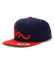 Imperial Motion Curser Navy & Red Snapback Hat