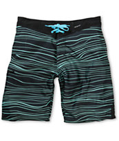 Imperial Motion Hanger Black & Teal Stripe 20 Board Shorts