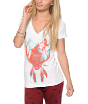 Imperial Motion Howling Wolf V-Neck T-Shirt