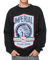 Imperial Motion Labor Of Love Black Crew Neck Sweatshirt