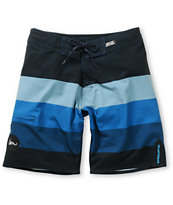 Imperial Motion Milton Navy & Blue Stripe 20 Board Shorts