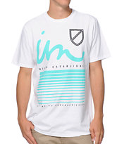 Imperial Motion Never Fade White & Mint Tee Shirt