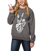 Imperial Motion Peace Hands Crew Neck Sweatshirt