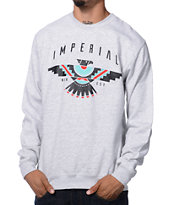 Imperial Motion Raven Heather Grey Crew Neck Sweatshirt