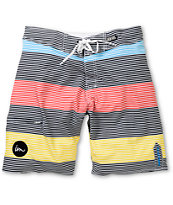 Imperial Motion Rufus Black Mini Stripe 20 Board Shorts